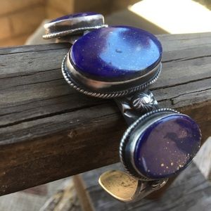Chimney Butte Navajo Lapis & Sterling Silver Cuff